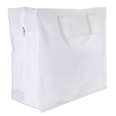 White Clothes Storage Bag & Laundry Carrier